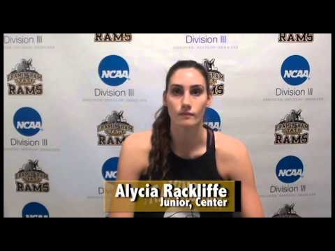 Alycia Rackliffe- Framingham State Athlete of the Week- 1/3/16