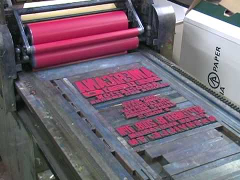 Print - From the Smithsonian traveling exhibition American Letterpress: The Art of Hatch Show Print, this video shows you the art of letterpress printing as practice...