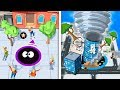EVOLUTION OF MONSTER TORNADO IN HOLE.IO ( Game Like Agar.io )