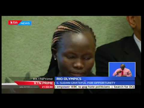 KTN Prime: S.Sudanese olympic athlete Rose Nathike addresses UN on her Rio experience, 29/09/2016