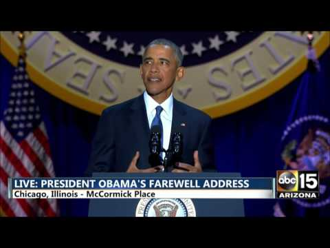 Download FULL: President Barack Obama's Farewell Address in Chicago HD Mp4 3GP Video and MP3