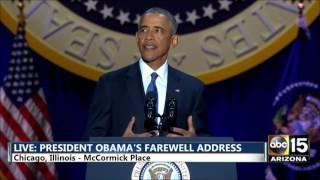 FULL: President Barack Obama's Farewell Address in Chicago