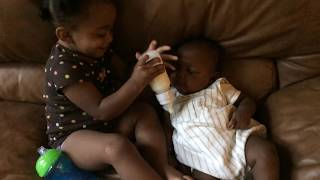 Two of my grandchildren: Melody and Dominik