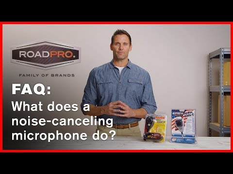 CB Radio FAQ #6 - What does a noise-canceling microphone do?
