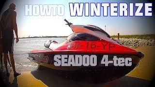 8. How to WINTERIZE Your SEADOO jetski PWC 4TEC DIY