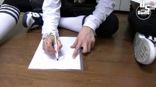image of [ENG] 130722 [BANGTAN BOMB] Jungkook is drawing 'I Like It'