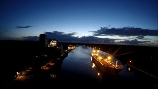 Sunset at Kiel Canal filmed with a GoPro Hero 4K black edition