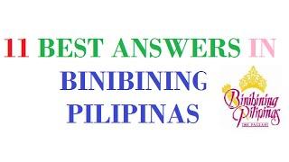 Video Top 11 Best Answers in Binibining Pilipinas MP3, 3GP, MP4, WEBM, AVI, FLV Juni 2018