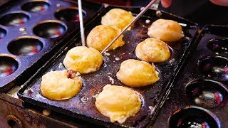 Makanan jalanan Jepang - Ninja Takoyaki bola gurita hitam Osaka Jepang