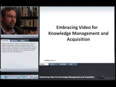 Embracing Video for Knowledge Management