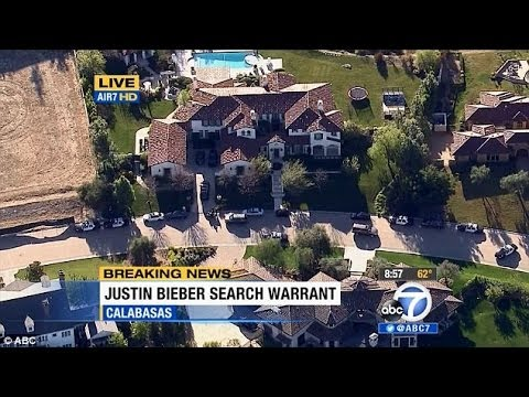 LAPD Raids Justin Bieber Home After Egging Incident Reaction