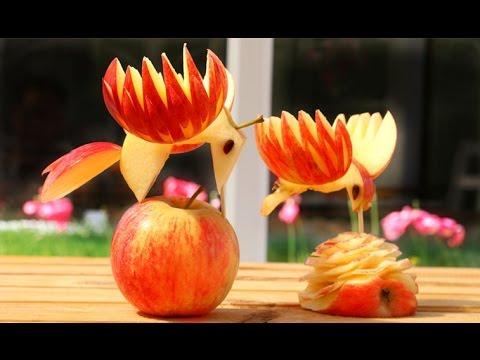 Art In Apple Birds | Fruit Carving Garnish | Food Decoration | Party Garnishing
