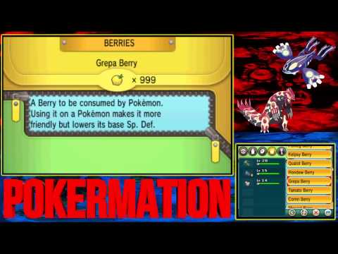Pokémon Omega Ruby and Alpha Sapphire - All berries