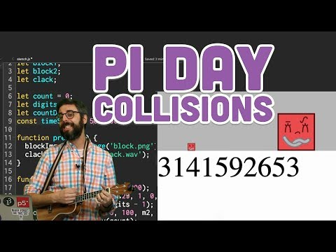 Coding Challenge #139: Calculating Digits of Pi with Collisions