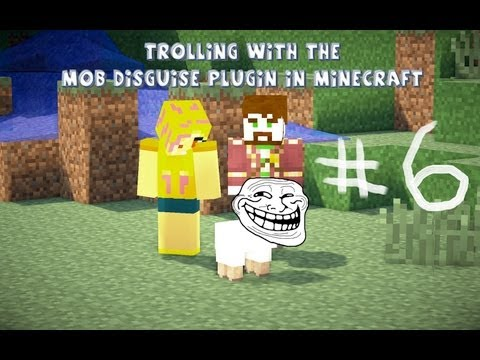 Trolling With The Mob Disguise/Disguisecraft Plugin On Minecraft Ep:6