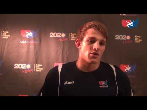 taylor - David Taylor after his 74 kg win against Russia at The Rumble On The Rails in Grand Central Terminal in New York City.