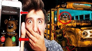 Video (FNAF IS REAL?!) CALLING FREDDY FAZBEAR ON FACETIME AT 3 AM   FREDDY CAME AFTER US ON THE SCHOOL BUS MP3, 3GP, MP4, WEBM, AVI, FLV Agustus 2017