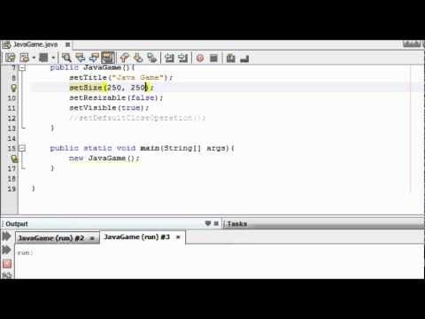 Java Game Programming for Beginners – #1 – Creating a Screen for a Game