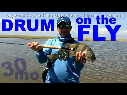 30milesOUT.com- BLACK DRUM ON THE FLY- TEXAS FLATS FLY FISHING how to