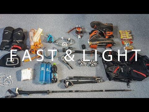 Bergsteigen Ausrüstung | Ultra Light Solo Mountaineering | German (видео)