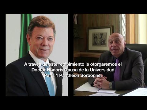 Presidente Santos será investido Doctor Honoris Causa