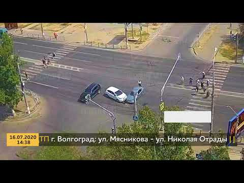 ДТП (авария г. Волгоград) ул. Мясникова - ул. Николая Отрады 16-07-2020 14-38