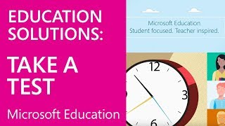 Microsoft Education: Take a Test