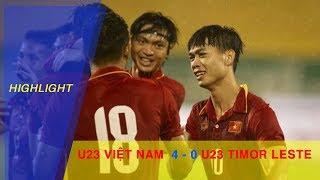 VFF Channel  HIGHLIGHT  U23 VIỆT NAM vs U23 TIMOR LESTE  BẢNG I VÒNG LOẠI VCK U23 CHÂU Á 2018 * Đơn vị chủ...