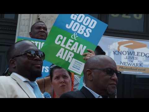 Newark Mayor Ras Baraka holds rally for jobs at Port Authority