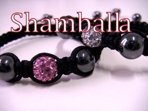 tutorial macramè - braccialetto shamballa