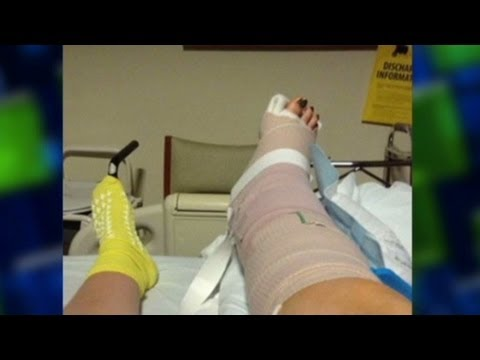 teacher - A teacher describes the leg injury she sustained while protecting students at Briarwood Elementary in Moore, Oklahoma. For more CNN videos, visit our site at...