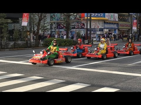 Mario Kart In Streets of Japan ! REAL LIFE