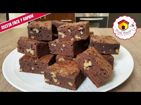BROWNIE de chocolate FACIL Y RAPIDO pocos ingredientes