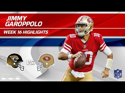Video: Jimmy Garoppolo Continues His Winning Streak! | Jaguars vs. 49ers | Wk 16 Player Highlights