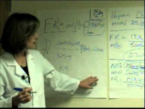 Berechnung IV Drug Infusion