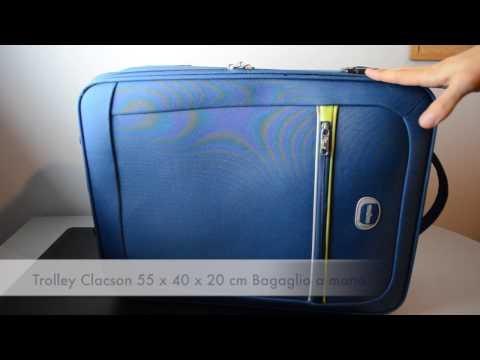 Trolley Clacson 55 x 40 x 20cm Bagaglio a mano