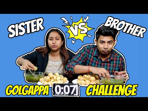 Golgappa Eating Challenge   This time who will win?🤷♂️🤑    Brother Vs Sister🤦♂️🤦♀️