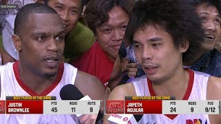 Best Players: Justine Brownlee and Japeth Aguilar | PBA Governors' Cup 2018