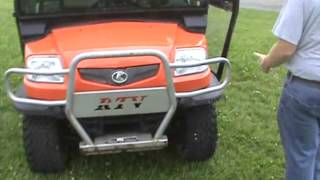 8. 2007 Kubota RTV900 Utility Vehicle 4x4 21HP Diesel Cab Heat Power Dump For Sale Mark Supply