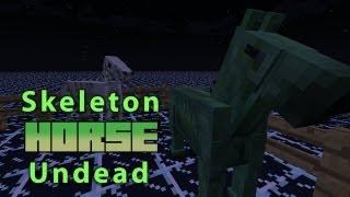 Minecraft: Skeleton Horse&Undead Horse! [World Download]