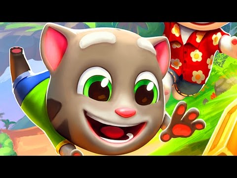 Talking Tom Gold Run Hawaii / Cartoon Games Kids TV