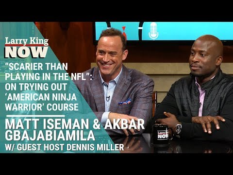"""Scarier Than Playing In The NFL"": Akbar Gbajabiamila On Trying Out 'American Ninja Warrior' Course"