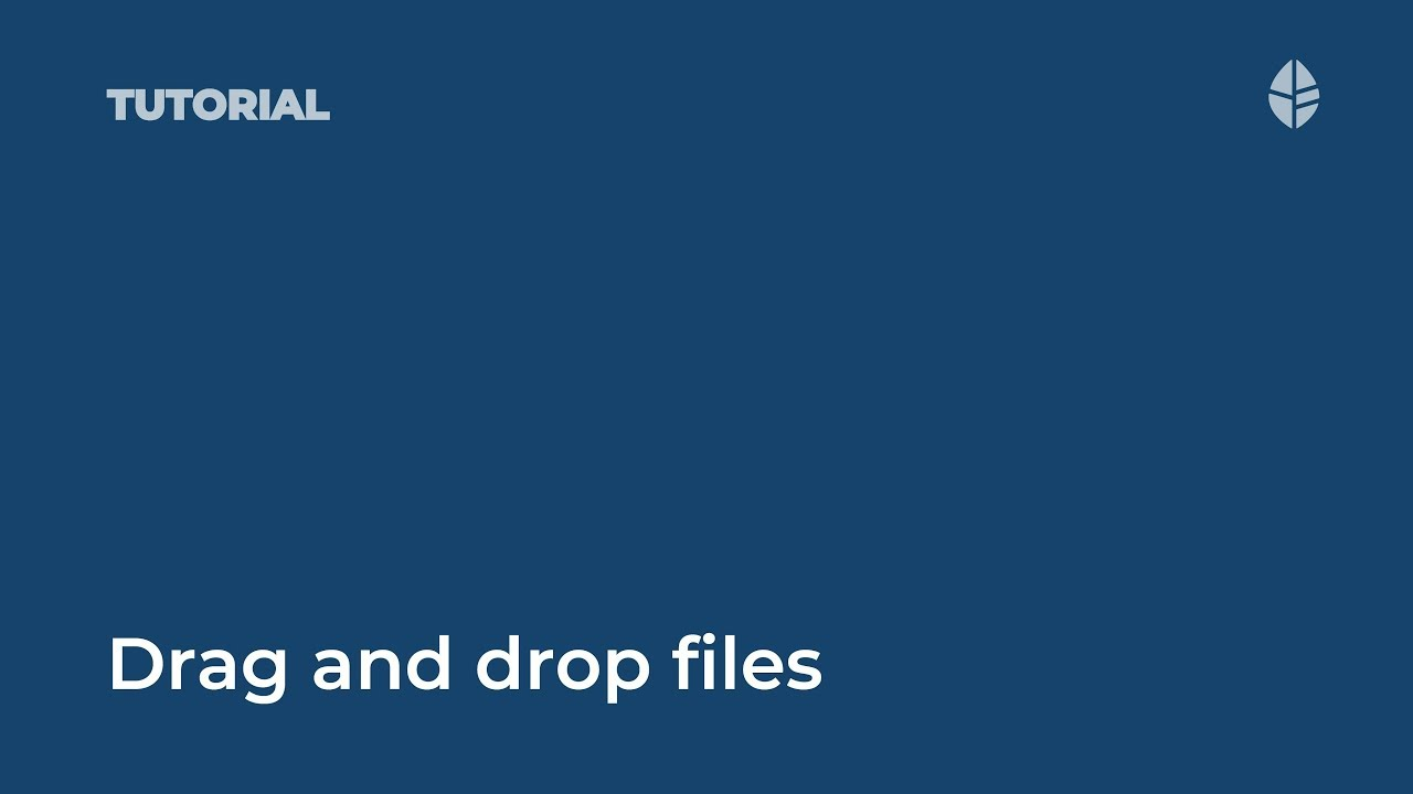 Drag and drop file upload Video Thumbnail