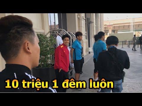 Thử Thách Bóng Đá đi tìm khách sạn 5 sao của Công Phượng Quang Hải và ĐT Việt Nam đấu nhật bản - Thời lượng: 10 phút.