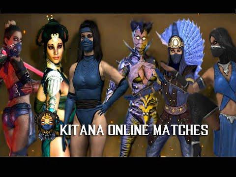 Mortal Kombat X - Kitana Online Ranked Matches - All Costumes (видео)