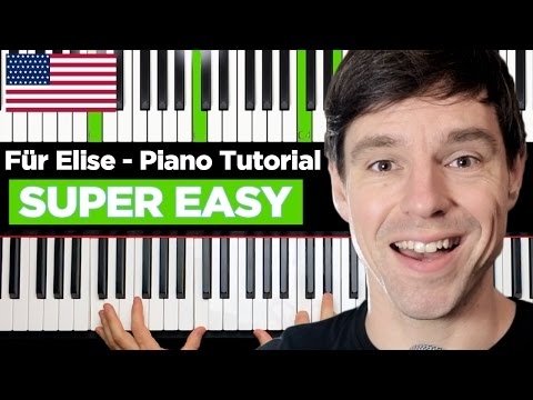 "How To Play ""FÜR ELISE"" On Piano Tutorial - Very Easy - Part 1"