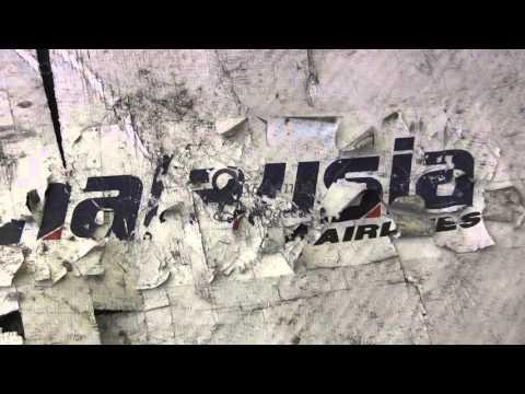обломки малазийского авиалайнера