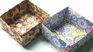 How to Make Origami Box/ Easy Paper Box/ Paper Crafts/ Paper Origami.