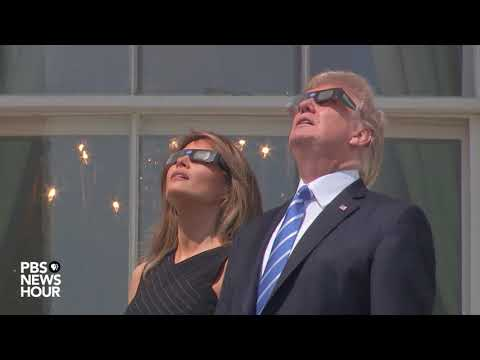 WATCH: President Trump watches the solar eclipse
