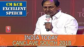 Video CM KCR Excellent Speech At India Today Canclave South 2018 | Hyderabad | V6 News MP3, 3GP, MP4, WEBM, AVI, FLV April 2018